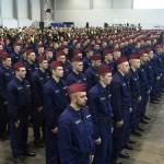 A határvadászképzés első ütemében részt vevő állomány ünnepélyes eskütétele a budapesti Hungexpón 2017. január 12-én.<br /> MTI Fotó: Koszticsák Szilárd