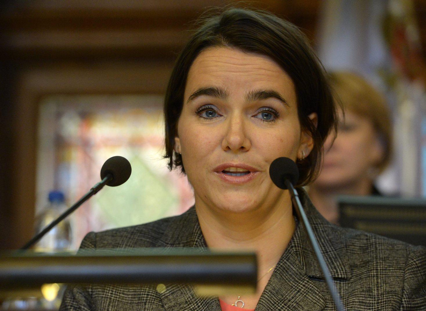 Novák Katalin, az Emberi Erőforrások Minisztériumának család- és ifjúságügyért felelős államtitkára. MTI Fotó: Soós Lajos