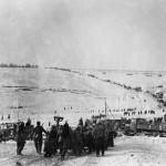 A magyar 2. hadsereg alakulatainak visszavonulása Ilovszkojénél, a Don-kanyarban 1943. januárjában (MTI Fotó: Reprodukció)