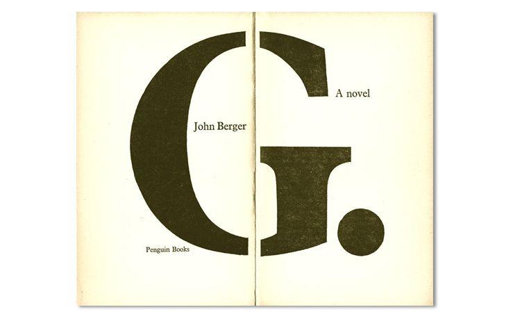 John Berger Szokatlan című regényének belső borítója. Kép: Richard Hollis/MTVA Újmédia