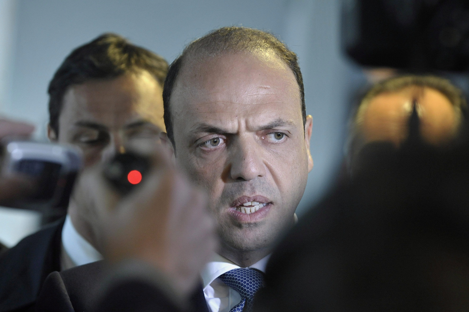 Angelino Alfano, olasz külügyminiszter (MTI/EPA/Nicolas Bouvy)