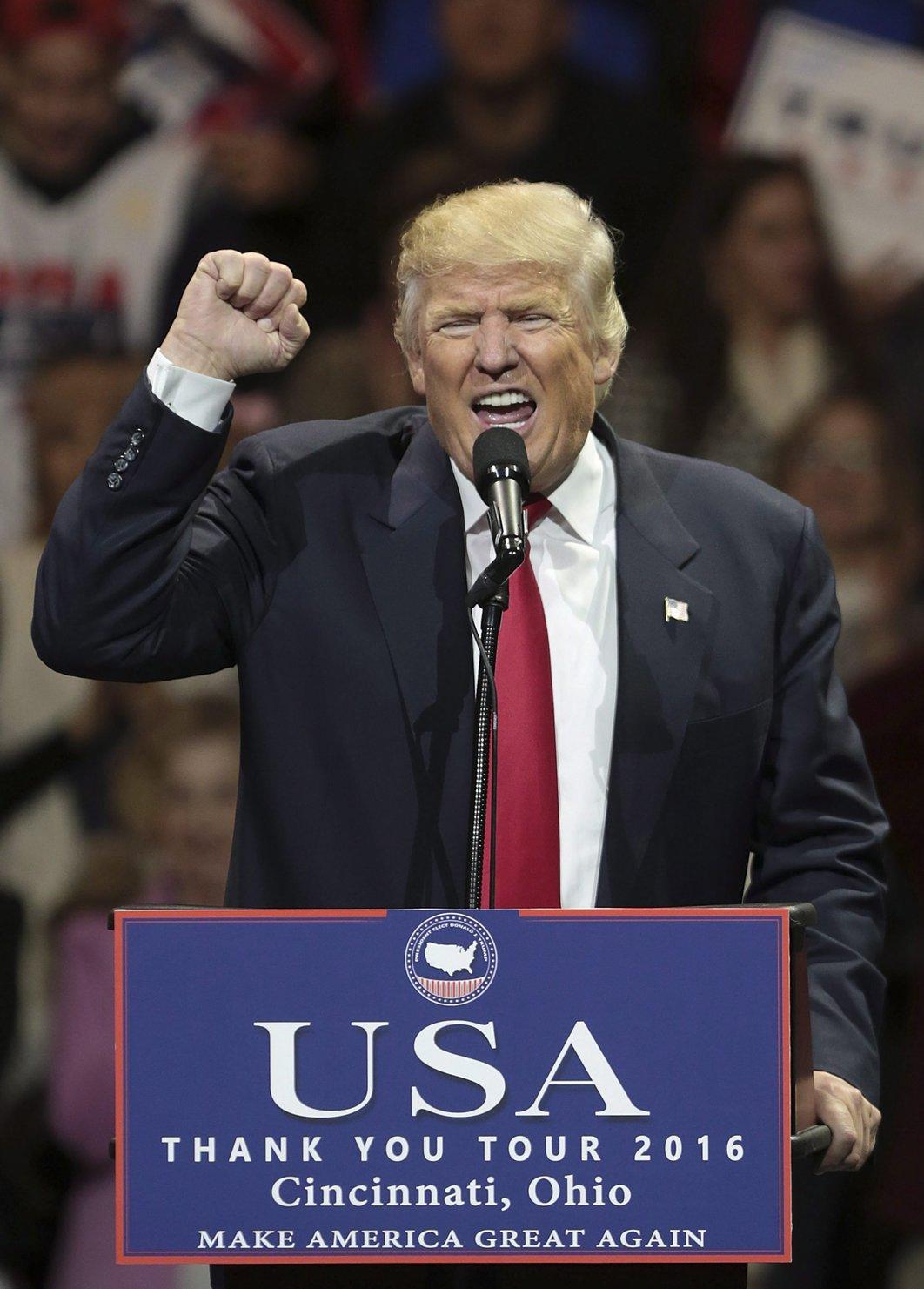 Donald Trump, megválasztott amerikai elnök (MTI/EPA/Mark Lyons)