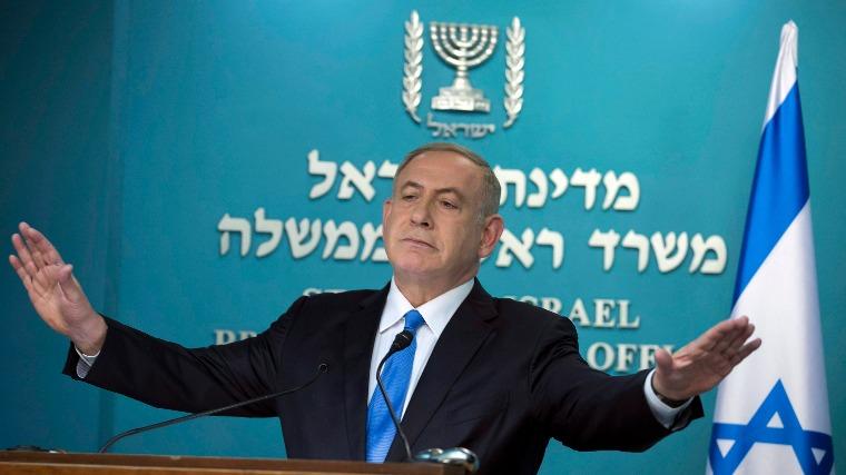 Benjámin Netanjahu, izraeli kormányfő (Fotó: MTI/EPA/Jim Hollander)