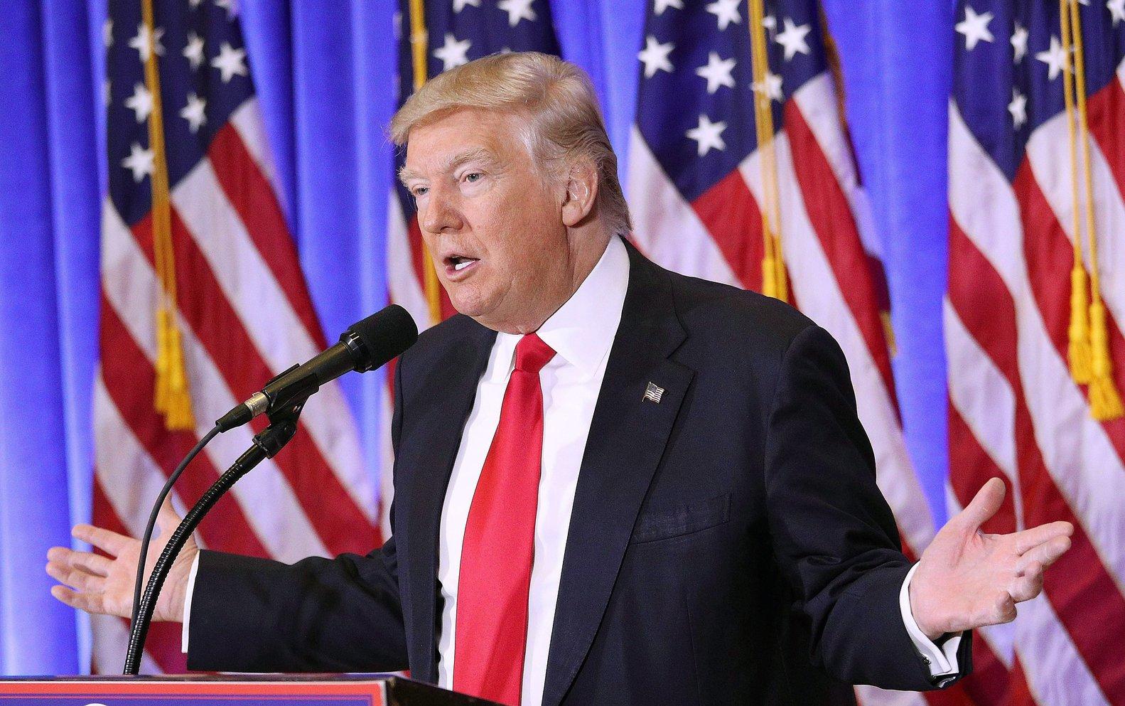 Donald Trump, megválasztott amerikai elnök(MTI/EPA/Justin Lane)