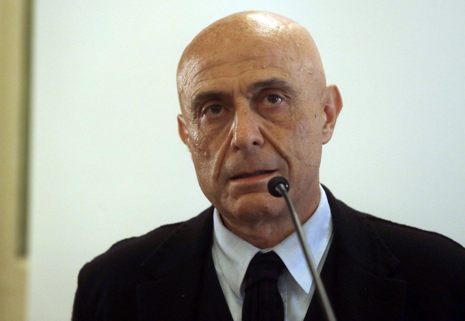 Marco Minniti, olasz belügyminiszter (MTI/AP/Gregorio Borgia)