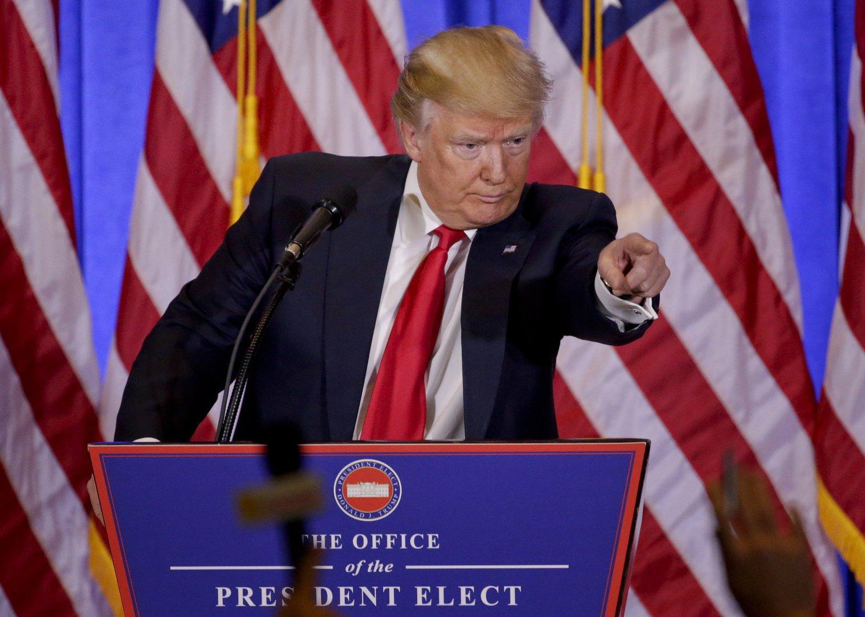 Donald Trump, megválasztott amerikai elnök (MTI/AP/Seth Wenig)