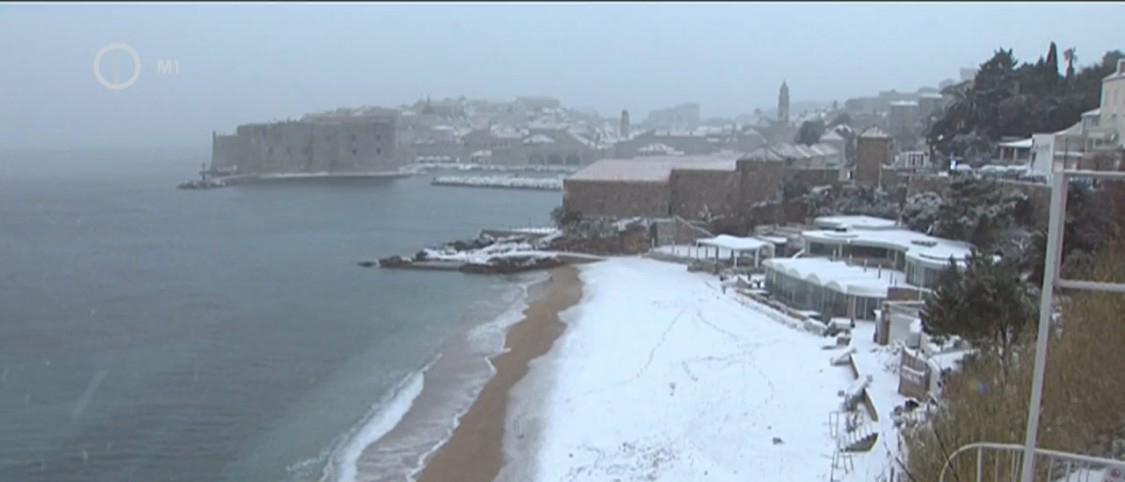 Dubrovnik hó borította strandjai
