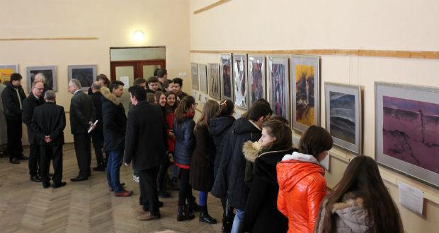 Matl Péter kiállítása a Gulagról a Nagyberegi Középiskolában. Forrás: Kárpátalja.ma