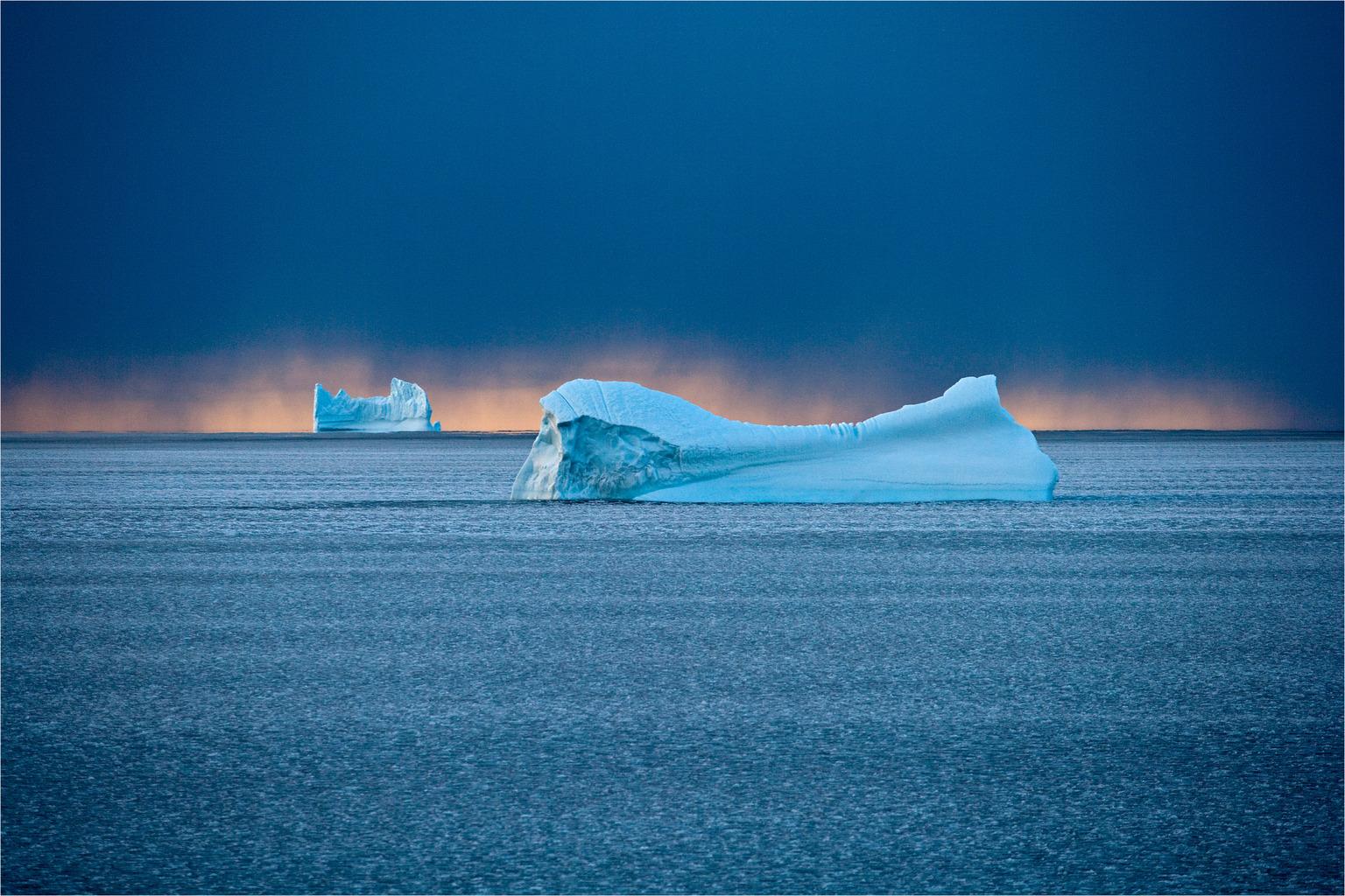 Jéghegy a Baffin-öbölben. (Fotó: AFP)