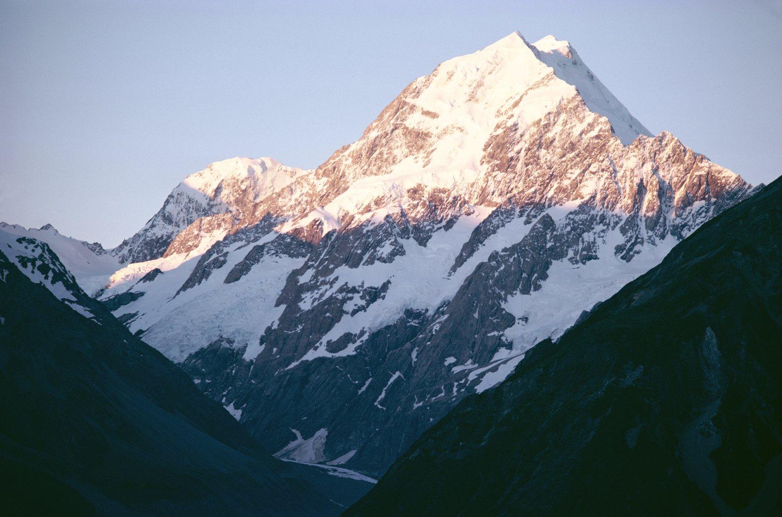 A Cook-hegy, Új-Zéland és Zélandia legmagasabb csúcsa. (Fotó: AFP)