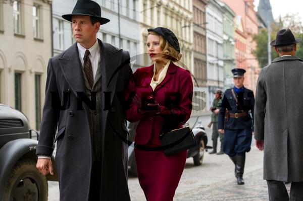 Jessica Chastain és Johan Heldenbergh a Menedék című filmben. Jelenetfotó
