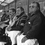 Puskás Ferenc, a magyar válogatott új szövetségi kapitánya a kispadon a Magyarország-Svédország válogatott labdarúgó mérkőzésen a Népstadionban 1993. április 15-én. /0:2/ (MTI Fotó: Németh Ferenc)