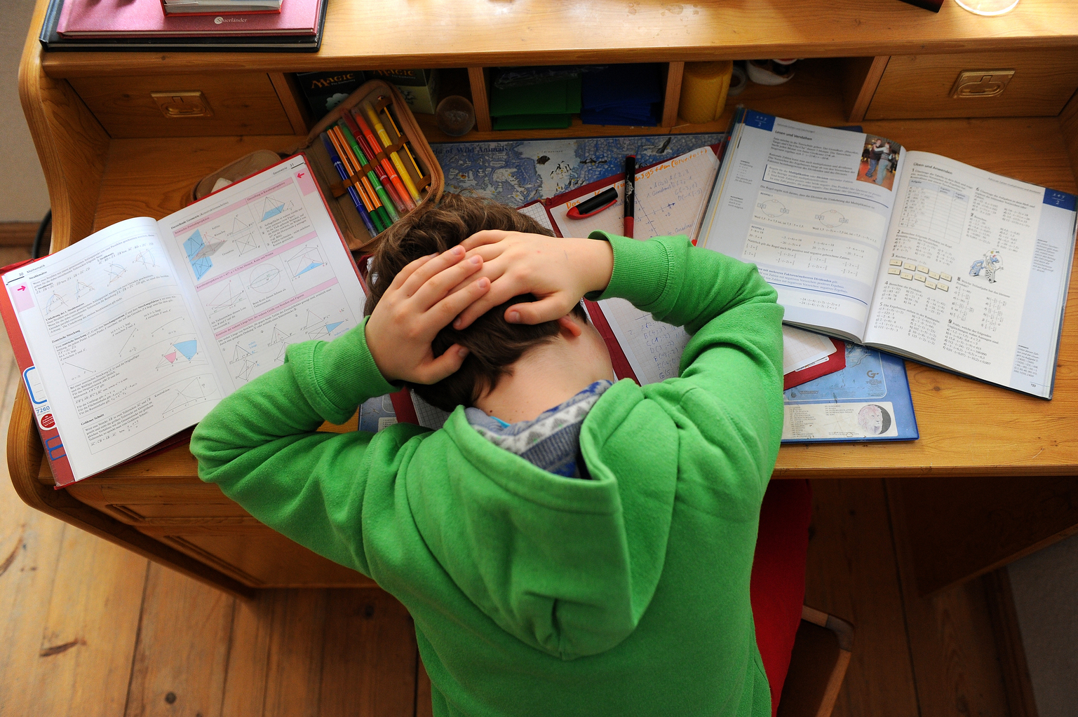 Illusztráció - Stressz gyerekeknél. (Fotó: AFP)