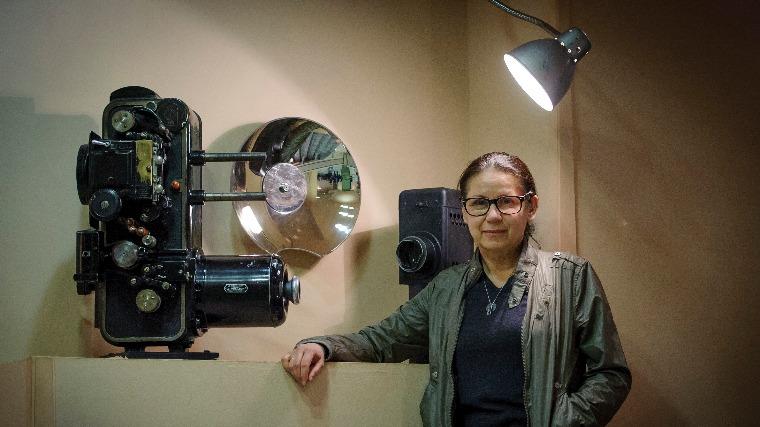 Enyedi Ildikó rendező a 67. Berlini Nemzetközi Filmfesztiválon a legjobb filmnek járó Arany Medve-díjat nyert Testről és lélekről című filmjéről tartott közönségtalálkozó előtt a debreceni Apolló moziban 2017. március 8-án. MTI Fotó: Czeglédi Zsolt