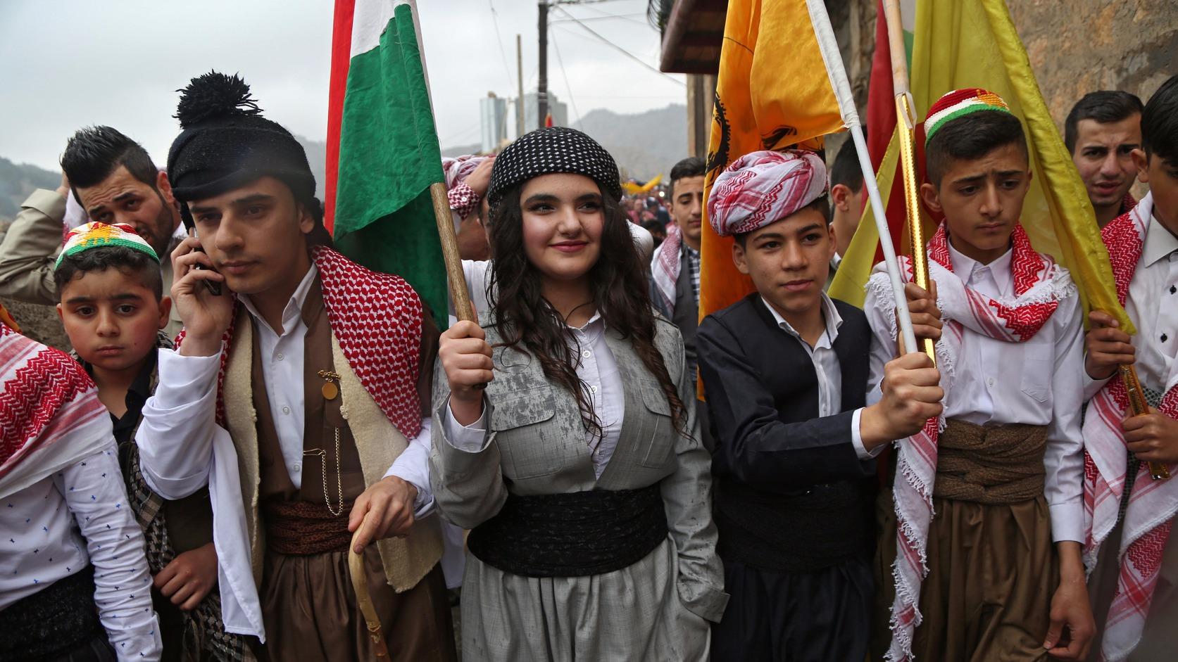 A kurd újévet ünneplik iraki kurdok. MTI/EPA Fotó