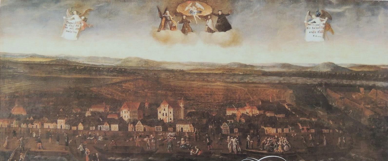 Karl Friedl festménye az 1763-as földrengésről