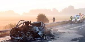 Többen megsérültek egy balesetben az M6-os besnyői lehajtójánál