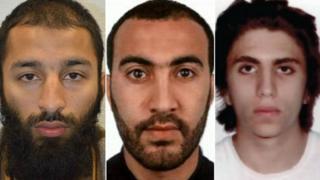 A londoni hatóságok által kiadott képen a londoni terrortámadás három elkövetője, Khuram Butt, Rachid Radouane és Youssef Zaghba szerepel