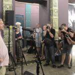 Gerendai Károly, a Sziget fesztivál főszervezője beszél a Sziget 25. évfordulója alkalmából rendezett fotókiállítás megnyitóján a budapesti Robert Capa Kortárs Fotográfiai Központban 2017. július 11-én. A Sziget 25 - Fesztiváltörténelem fényképeken című tárlat augusztus 31-ig tekinthető meg.<br /> MTI Fotó: Soós Lajos