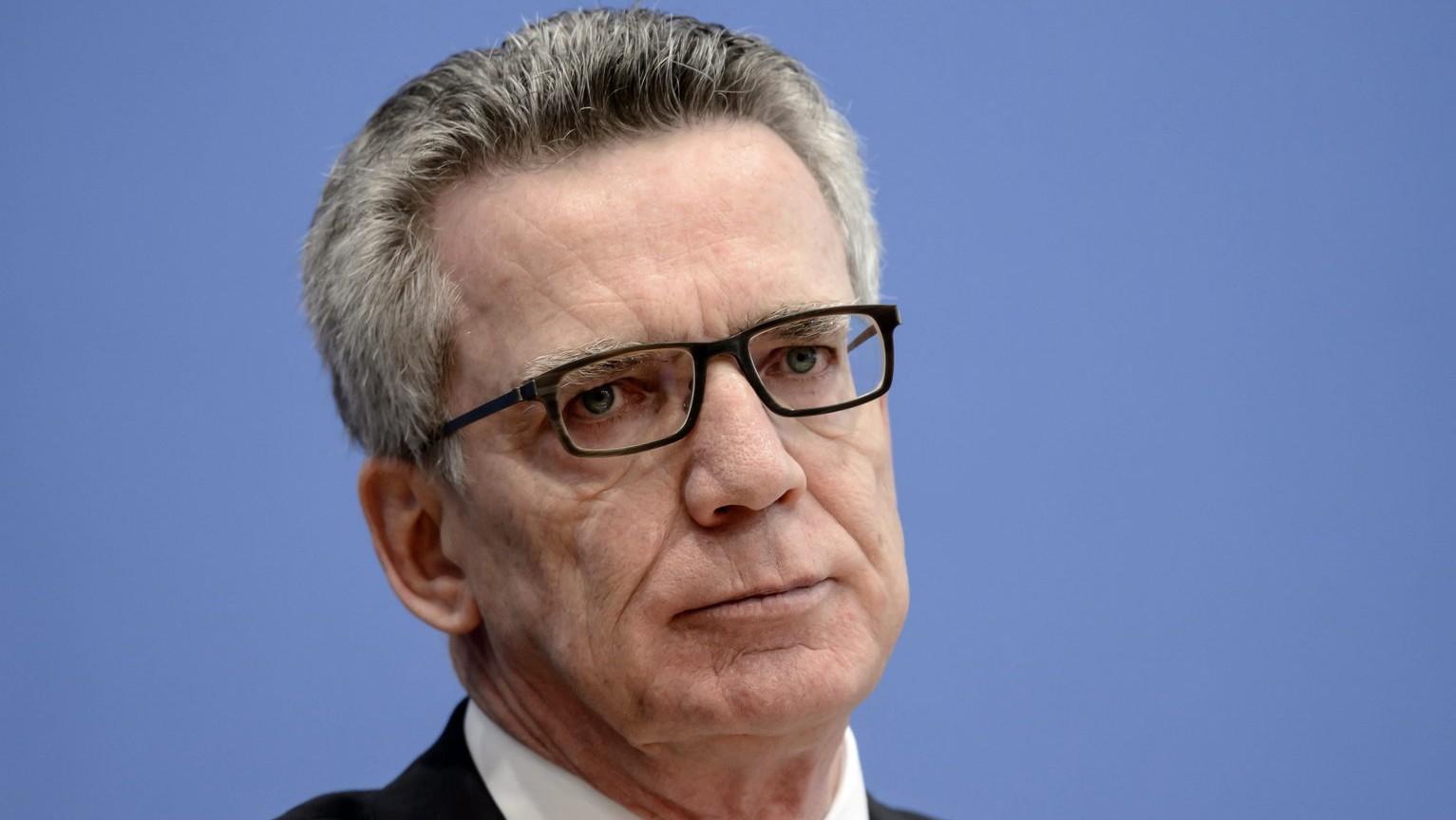 Thomas de Maiziere, német belügyminiszter (Fotó: MTI/EPA/Clemens Bilan)