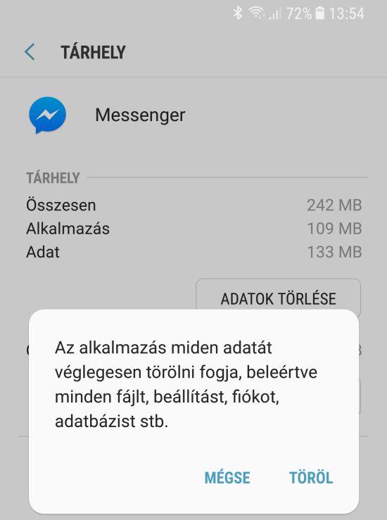 Android adattorles Messenger