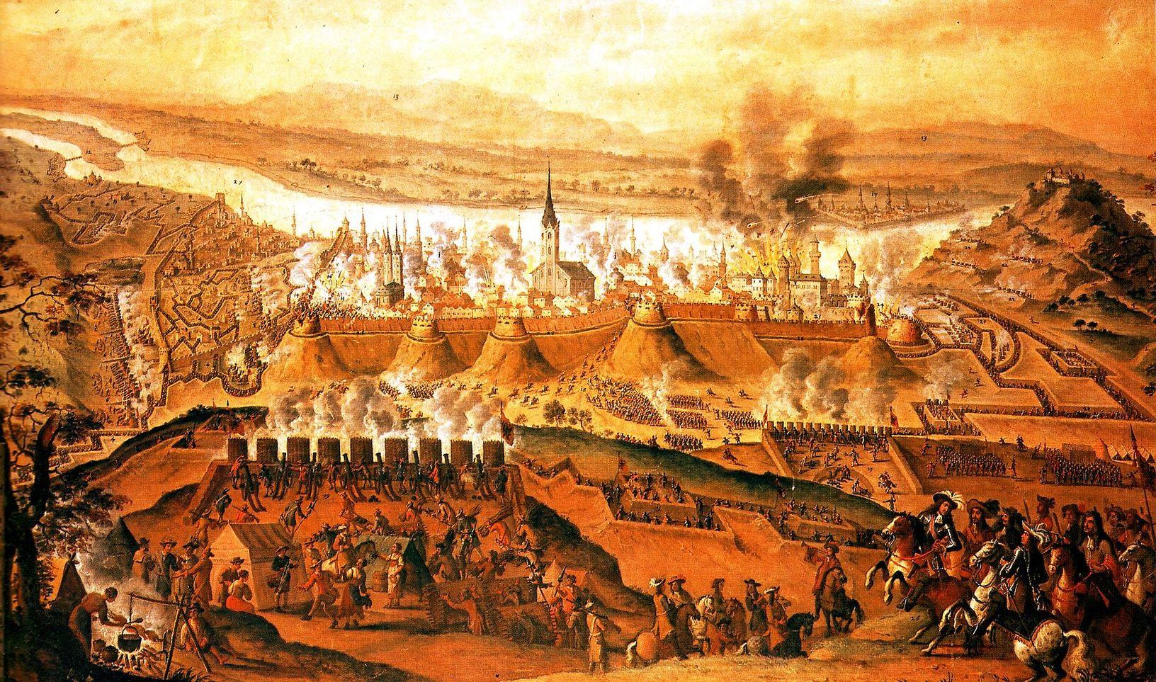 Budavár ostroma (1686) Lotaringiai Károly táborából nézve Franz Geffels festményén Forrás: Wikipédia