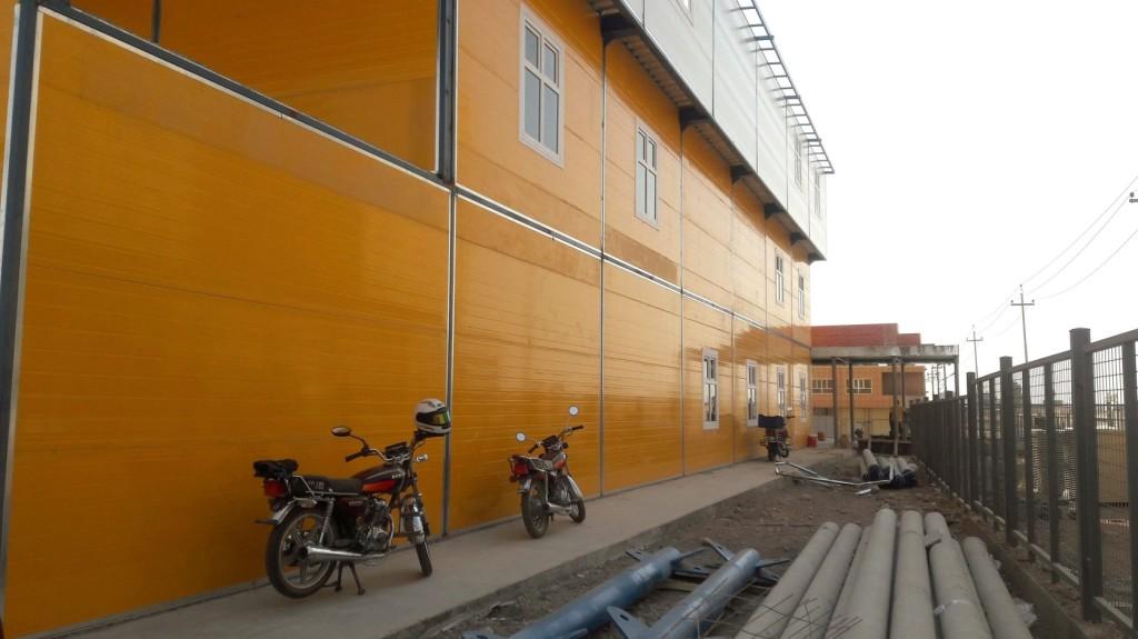 Halad az erbíli iskola építése