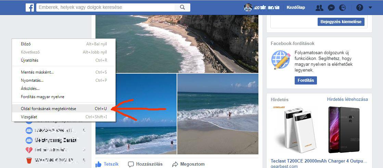 Facebook forras