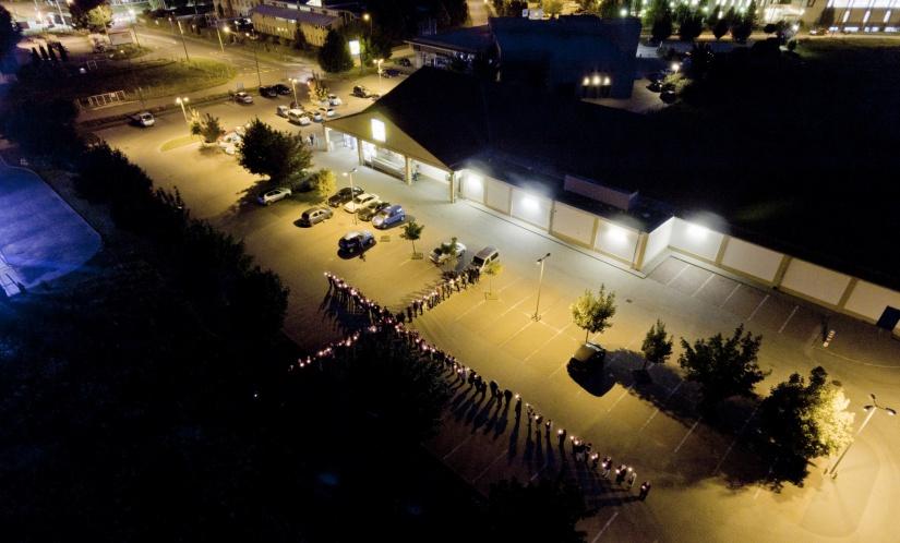 Kaposvári tiltakozás a Lidl akciója ellene