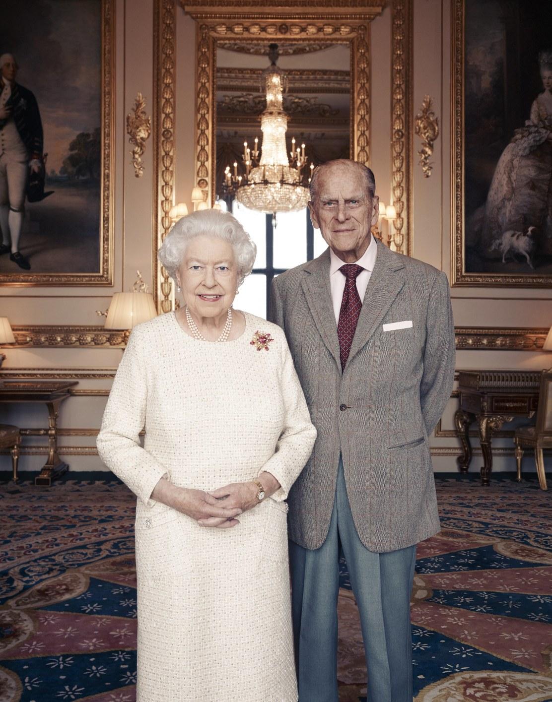 A királyi pár 70. házassági évfordulójára készült portré (Fotó: MTI/EPA)