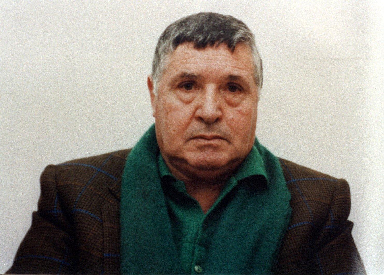 """2017. november 17-én közreadott, keltezetlen felvétel Salvatore """"Toto"""" Riina szicíliai maffiafőnökről Palermóban. A Cosa Nostra bűnszervezet élén álló olasz maffiózó 2017. november 17-én, 87 éves korában elhunyt egy pármai börtönben, ahol huszonhatszoros életfogytiglani szabadságvesztését töltötte. (MTI/EPA)"""