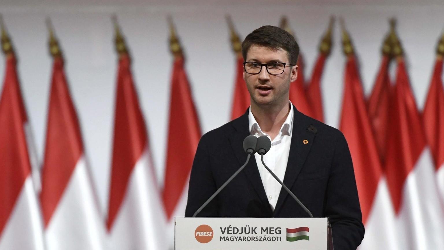 Böröcz László, a Fidelitas elnöke (MTI Fotó: Koszticsák Szilárd)
