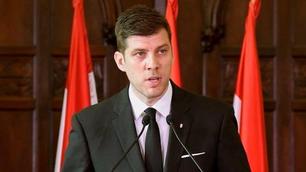 Szilágyi Péter, a Miniszterelnökség nemzetpolitikáért felelős helyettes államtitkára (Fotó: MTI/Bruzák Noémi)