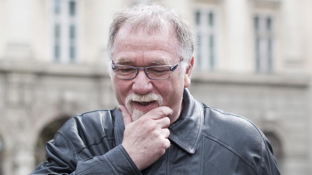 Vágó István televíziós műsorvezető, a Magyar Demokratikus Charta egyik szóvivője (MTI Fotó: Kallos Bea)