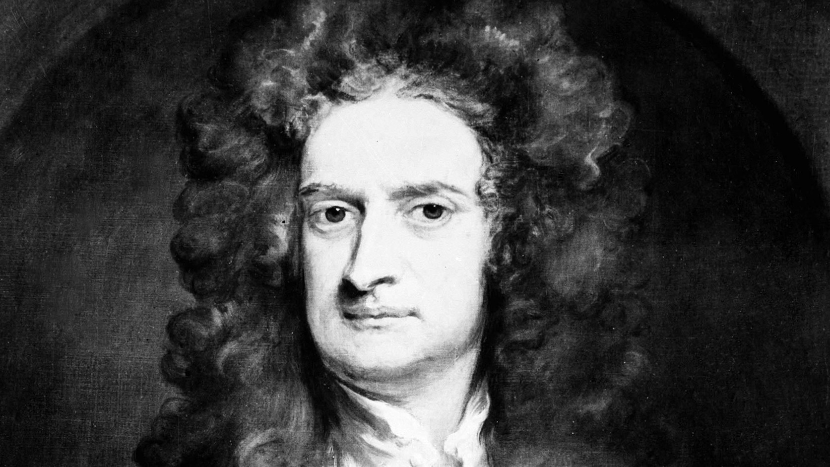 Nagy-Britannia, 1971. Sir Isaac Newton angol fizikus, matematikus, csillagász portréja. A festmény szerzője és készítésének időpontja ismeretlen, a reprodukció 1971-ben készült. (MTI/CP)