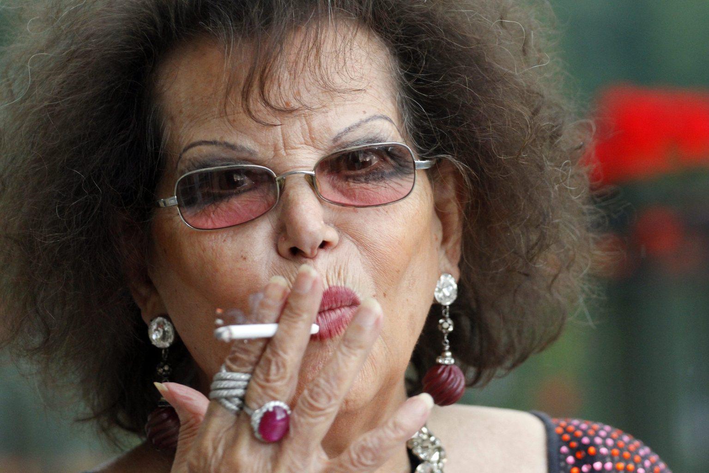 laudia Cardinale színésznő, a 12. Jameson CineFest Miskolci Nemzetközi Filmfesztivál életműdíjasa Lillafüreden, a Hotel Palota teraszán 2015. szeptember 12-én. MTI Fotó: Vajda János