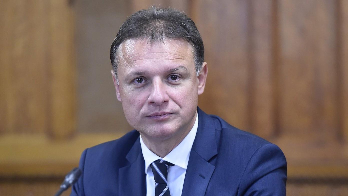 Gordan Jandrokovic, a horvát parlament elnöke Kövér László házelnökkel folytatott találkozóján az Országházban 2017. október 10-én. (MTI-fotó: Kovács Tamás)