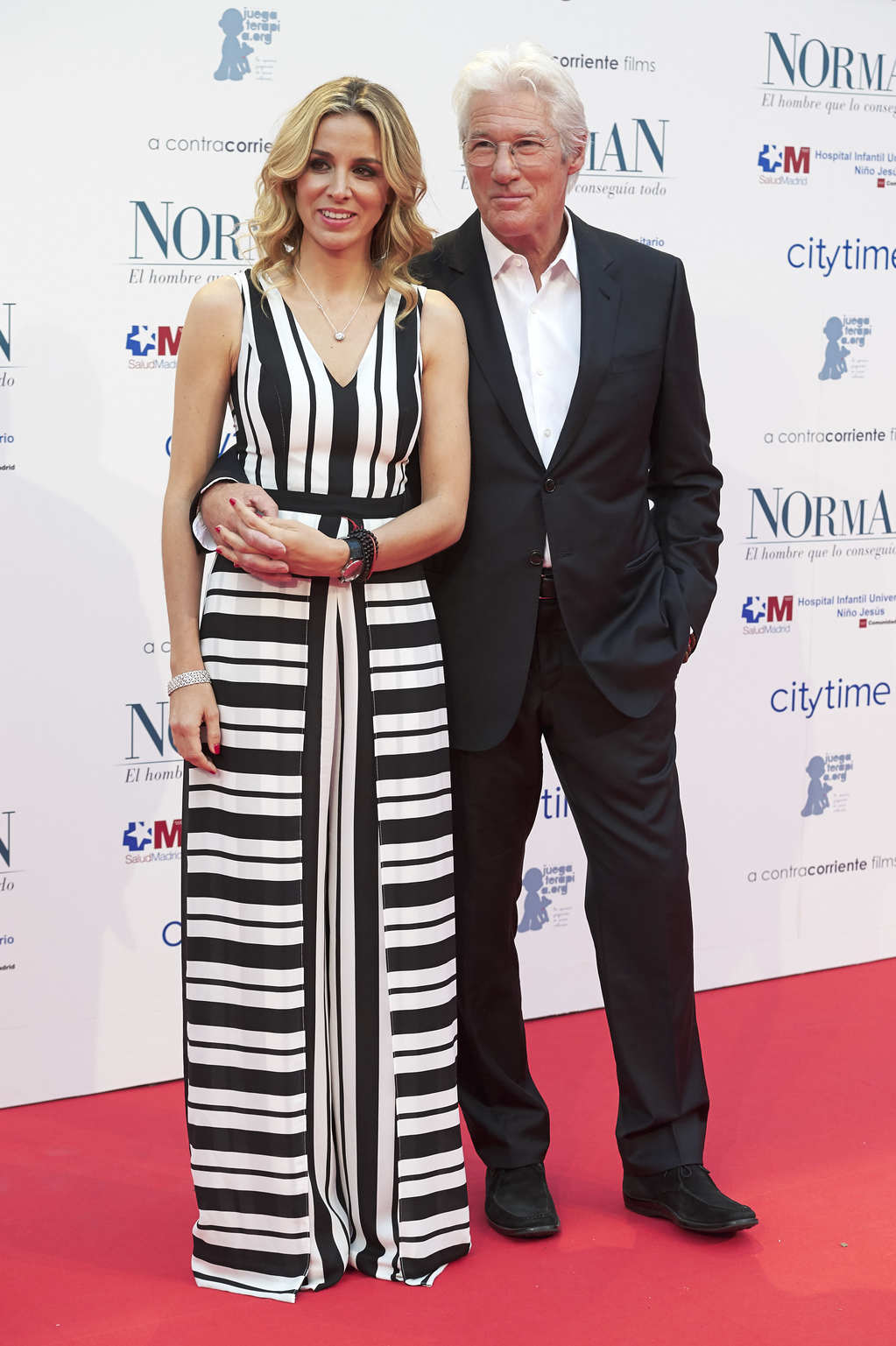 Alejandra Silva és Richard Gere (Fotó: Getty Images)