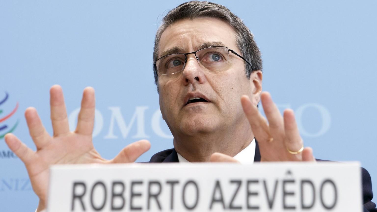 Roberto Azevedo, a Kereskedelmi Világszervezet, a WTO brazil vezérigazgatója (Fotó: MTI/EPA/Salvatore Di Nolfi)