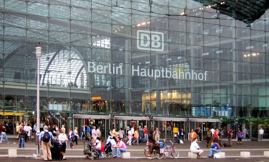A berlini főpályaudvar (Fotó: MTI/EPA)