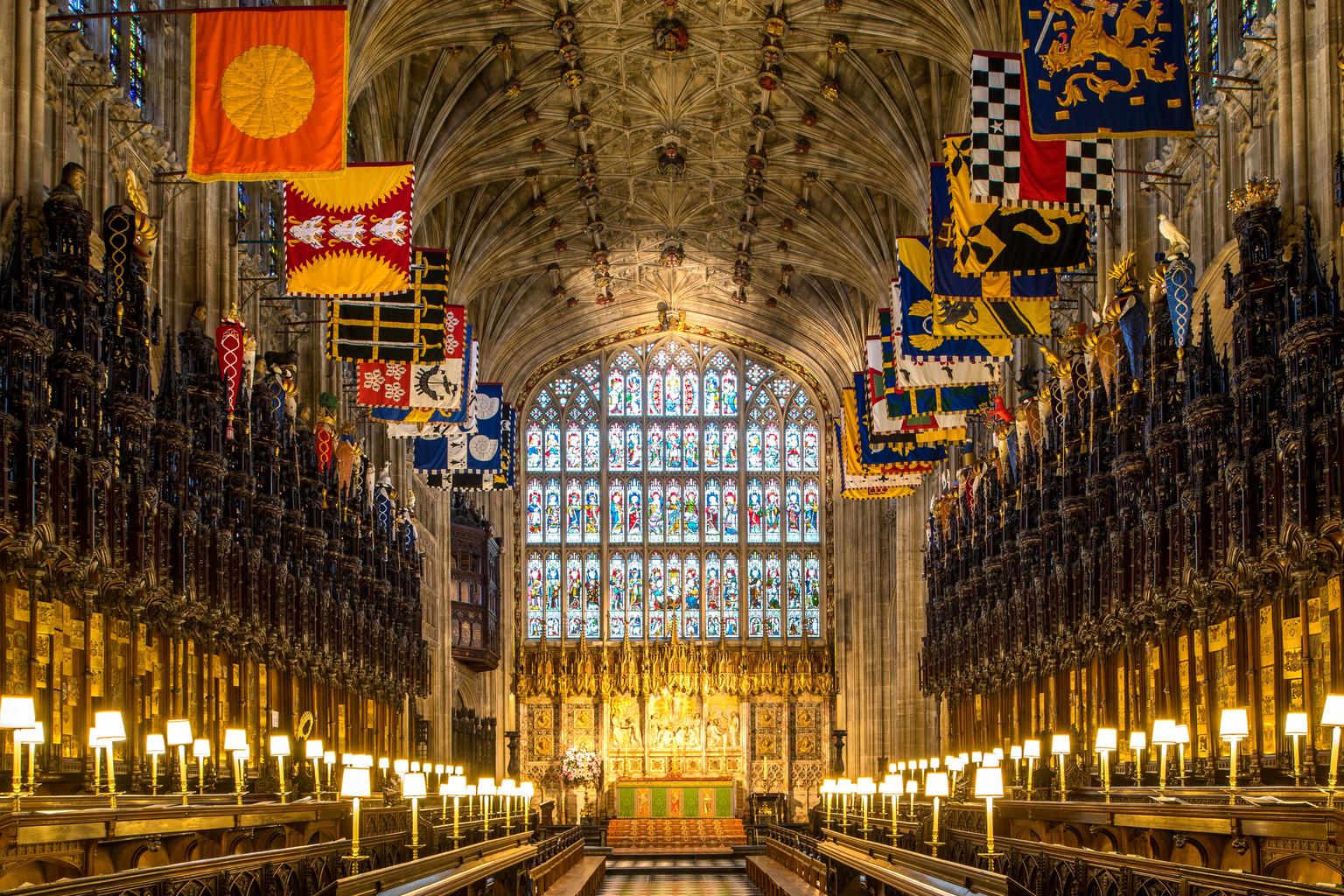 A Szent György kápolna, ahol összeadják Harry-t és Meghant. Fotó: Getty Images