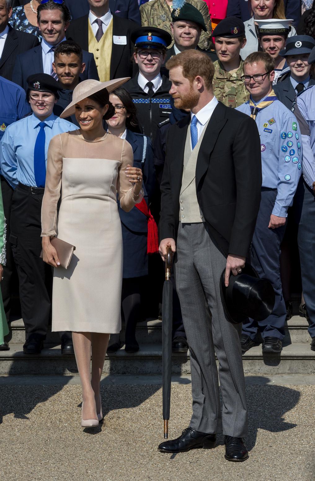Meghan hercegné és Harry herceg első hivatalos megjelenése az esküvő után. Fotó: Getty Images