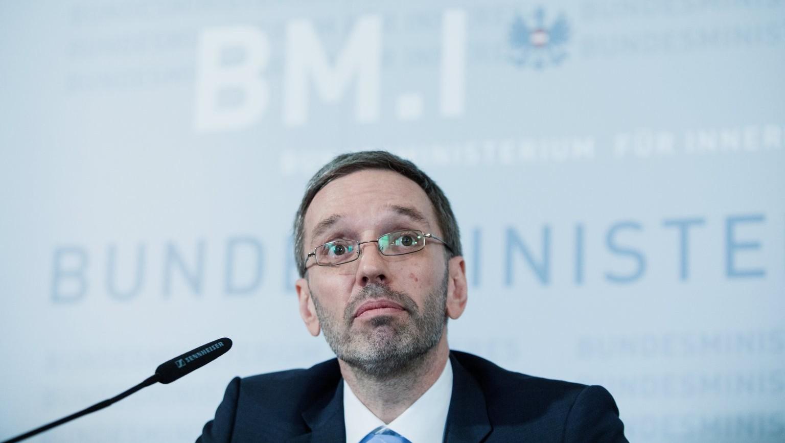 Herbert Kickl, osztrák belügyminiszter (Fotó: MTI/EPA/Alex Halada)