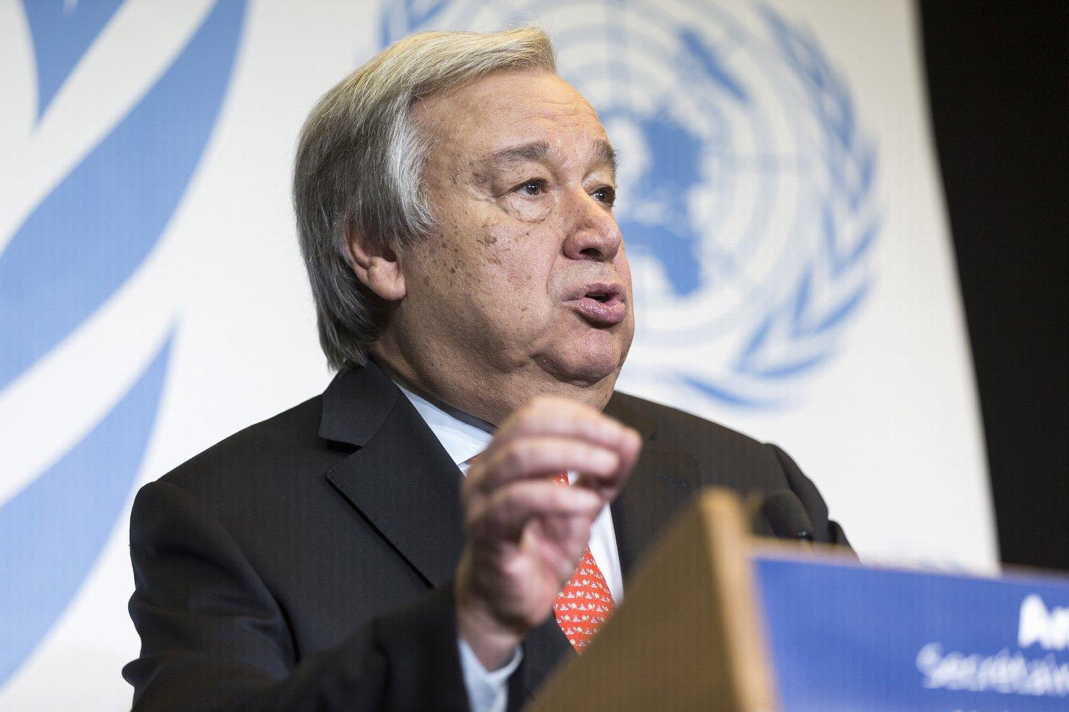 António Guterres ENSZ-főtitkár (Fotó: MTI/EPA/Cyril Zingaro)