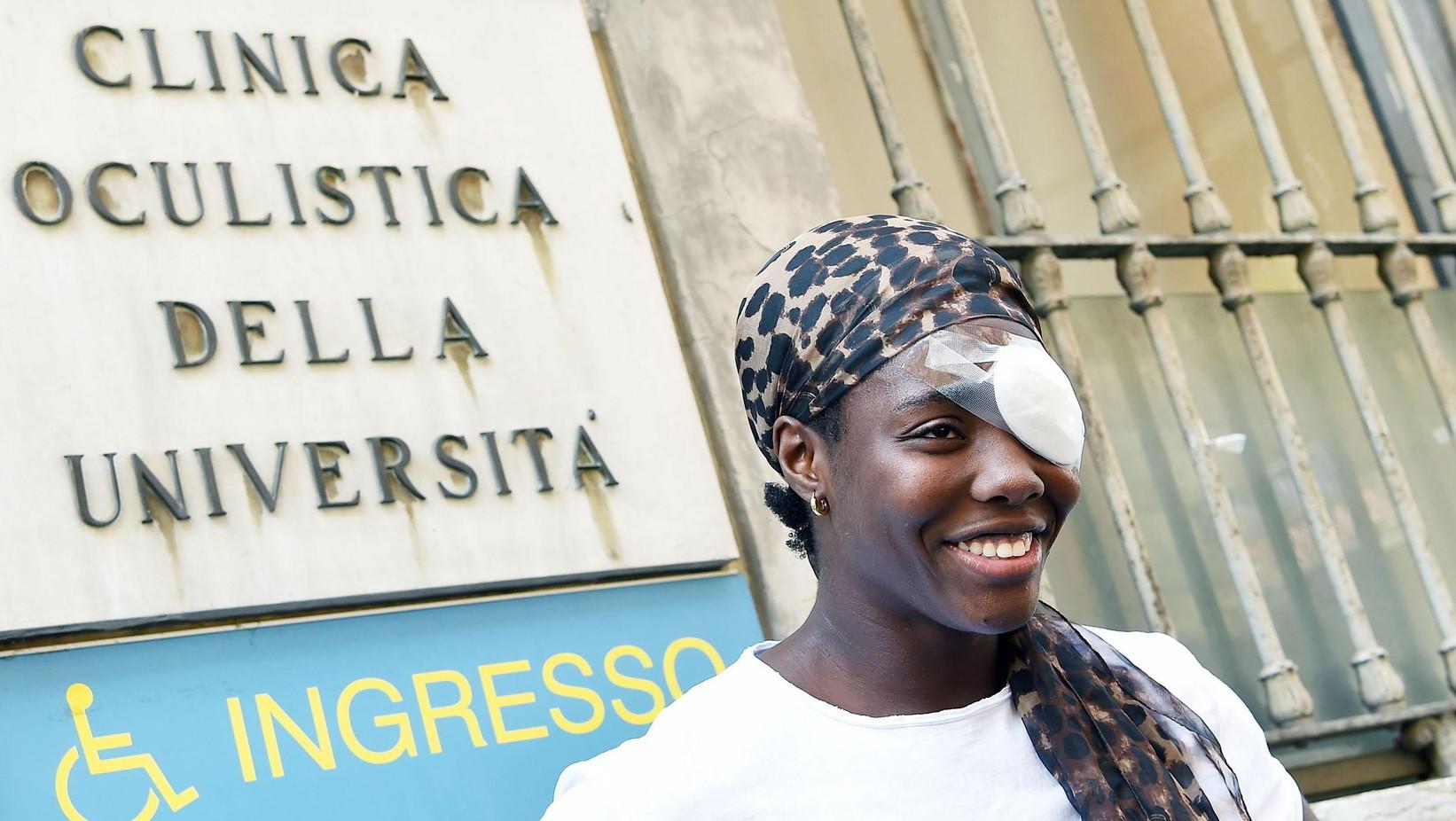 Daisy Osakue, az olasz atlétikai válogatott nigériai származású sportolónője, olasz ifjúsági diszkoszvető bajnok (EPA/ALESSANDRO DI MARCO)