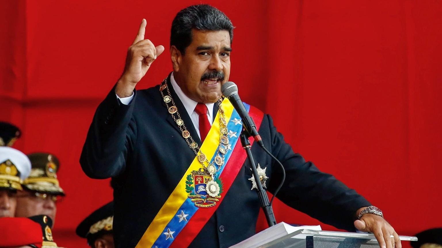 Nicolás Maduro, venezuelai államfő (MTI/EPA/Christian Hernández)