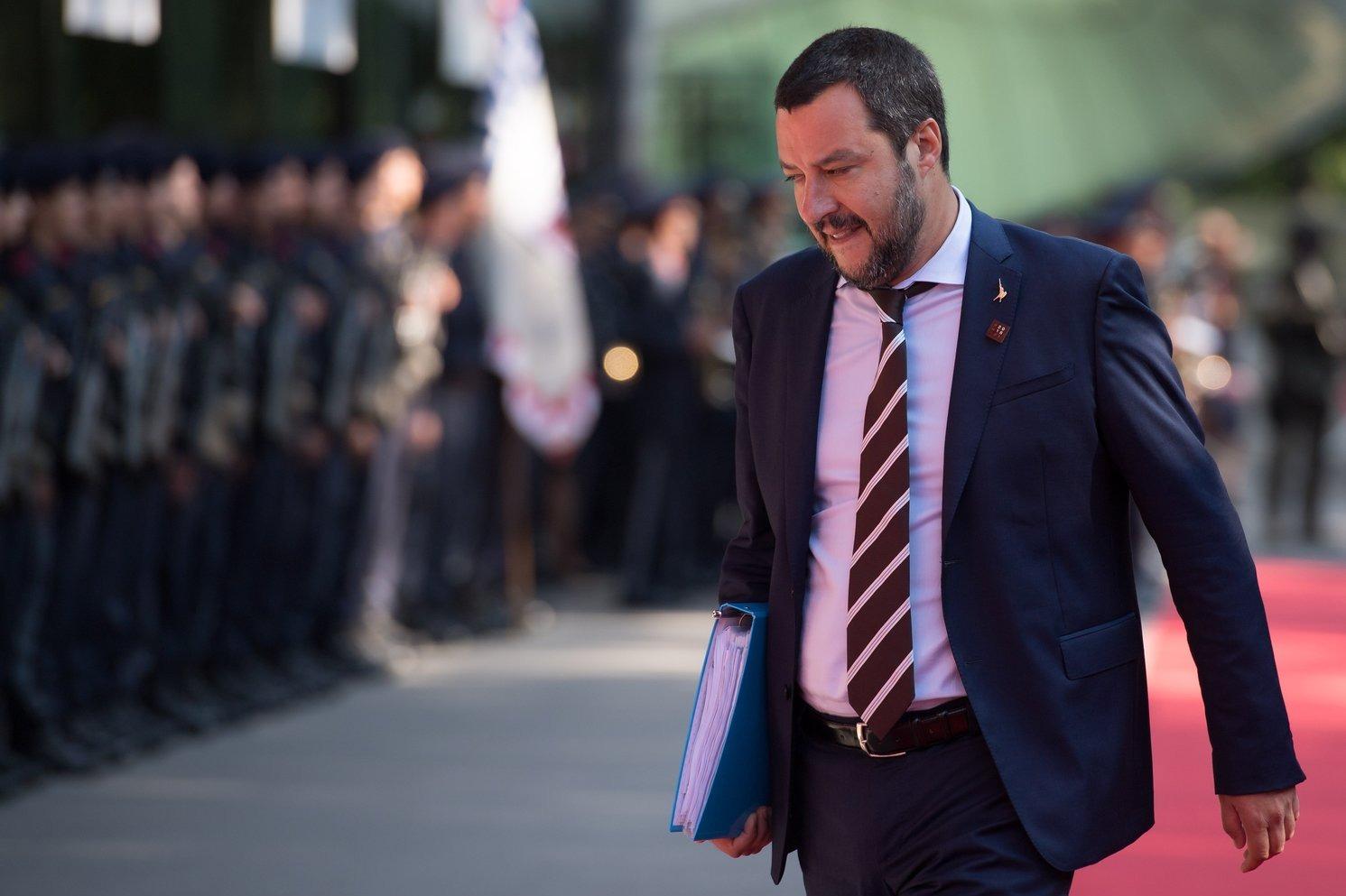 Matteo Salvini olasz belügyminsizter (Fotó: MTI/EPA)