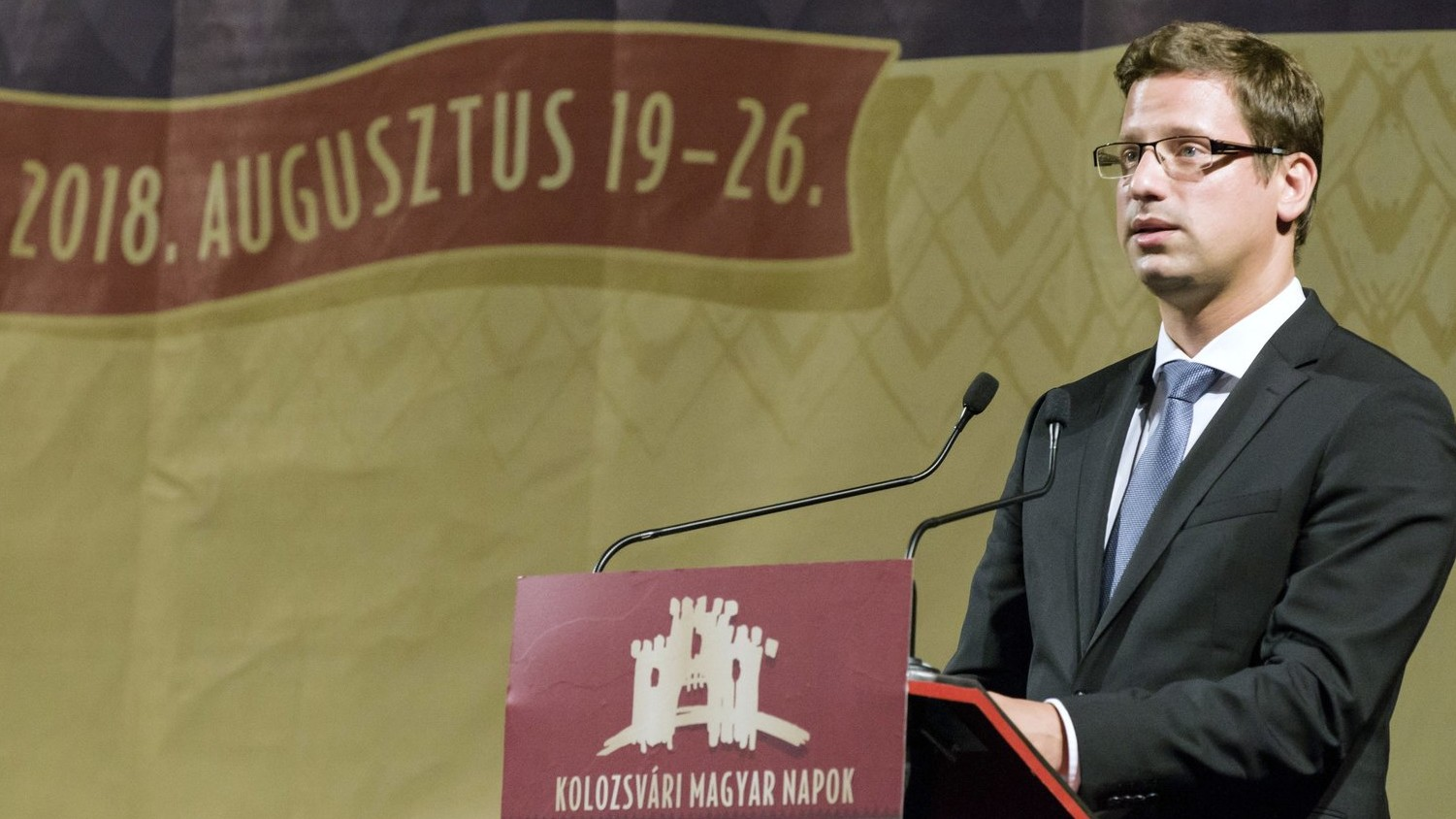 Gergely Gulyás, Minister of the Prime Minister, speaks at the opening ceremony of the 9th Hungarian time of Cluj Napoca in the construction of the Hungarian Opera House in Kolozsvár on 20 August 2018 (Photo: MTI / István Biró)
