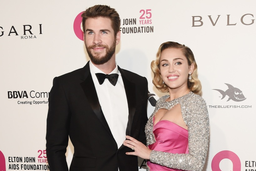 Miley Cyrus és Liam Hemsworth (Fotó: Getty Images)