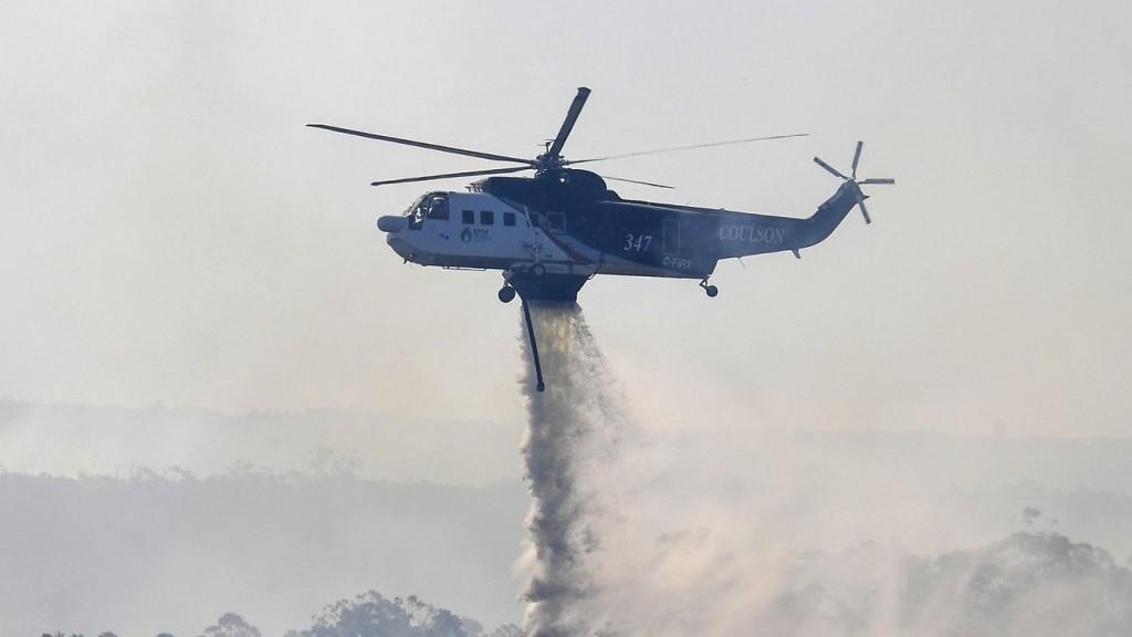 Lezuhant egy tűzoltó helikopter Ausztráliában